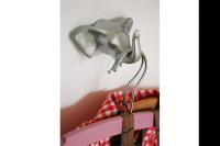 ELEPHANT wall hook SI polystone silver 9x8.5x4.5cm