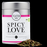 Spicy Love Bio Kräutertee mit Chili, Metalldose (70g)