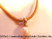 Anhaenger aus Silber 925/- Silber (Sterlingsilber) mit der Suesswasserperle und Baumwollban
