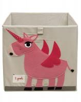 Aufbewahrungsbox Einhorn in rosa-creme von 3sprouts