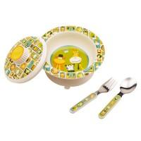 Baby Geschirr-Set Melamin-Schale mit Deckel und Besteck It s a jungle von Sugar Booger