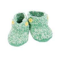 Baby-Schuhe gruen von Sebra