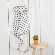 Badcape Handtuch mit Kapuze LEAVES in mintgrün von Fresk