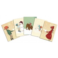 Belle &  Boo Festive Postcard Pack Chrismas
