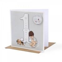 Belle &  Boo Jahres-Grusskarten mit Button