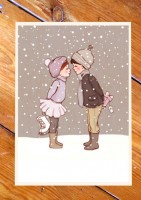 Belle &  Boo Snow Postkarten
