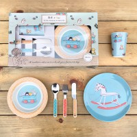 Belle & Boo Toy Box Melamine Set & Cutlery Set 6-teilig