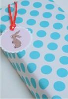Belle & Boo Weiches Aqua Blaues Puencktchen Geschenkpapier