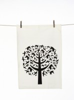 Bird Leaves Tea Towel