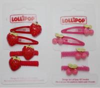 Clip und Haargummi Kirsche und Erdbeere von Lollipop