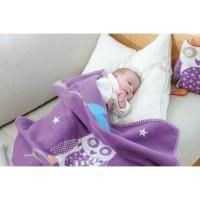 David Fussenegger Baby- und Kinderdecke Lili Eule, circa 70 x 90 cm