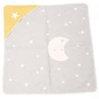 David Fussenegger Juwel Babydecke mit Kapuze und Mond