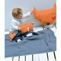 David Fussenegger Juwel Set Decke in Puppe Fuchs Babydecke Größe 70x90 cm