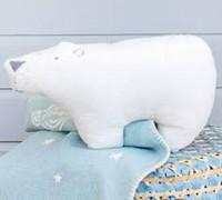 David Fussenegger  Kissen Finn Eisbär inklusive Füllung rohweiß ca. 25 x 44 cm