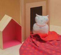 David Fussenegger Kissen Katze mit Füllung 30 x 37 cm