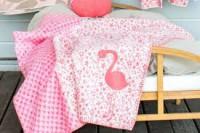 David Fussenegger Lena Kinderdecke Kuscheldecke Flamingo aus Baumwolle aus kontrolliert biologischem