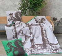 David Fussenegger Luca Waldtiere Eichhörnchen hellgrau Filz ca. 140 x 200 cm
