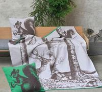 David Fussenegger  NOVA Kissen mit Füllung und Eichhörnchen grau Filz ca. 50 x 50