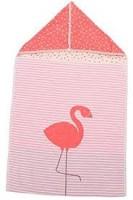 David Fussenegger Puckdecke Juwel mit Kapuze Flamingo 45 x 76 cm