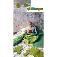 David Fussenegger Set Flanell-Baby- und Kinderdecke Juwel mit  Krokodil