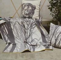 David Fussenegger Wohndecke Nova Bäume anthrazit 145x220cm Baumwollmischung