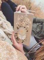 Dig Deep Daisy Sketch & Scribble Set Notizbuch von Papaya