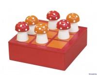 Drei in einer Reihe-Spiel mit Pilzen