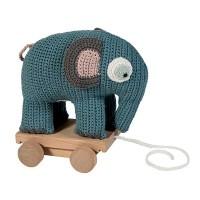 Elephant auf Raedern zum Hinterherziehen