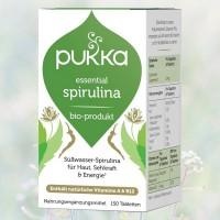 Essential Spirulina Bio, Pukka, 150 Tabletten