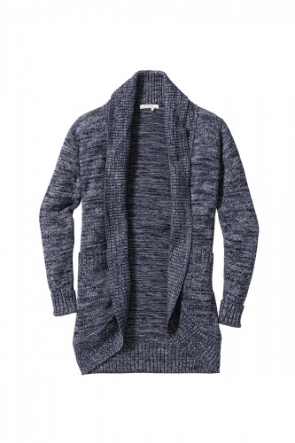Strickjacke navy grey