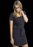 Fair trade Kleid Frauen SHIRTDRESS DOTS navy von recolution