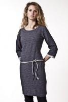 Fair trade Kleid MAREIKE grau gesprenkelt von recolution