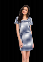 Fair trade Kleid SHIRTDRESS STREIFEN von recolution