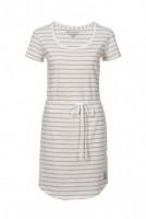 Fair trade Kleid SHIRTDRESS STREIFEN weiß/apricot von recolution