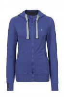 Fair trade Zip Hoodie JACKIE THE ZIPPER blau von recolution