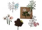 Filz-Buegelbilder Botanic