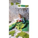 Flanell-Baby- und Kinderdecke Juwel mit  Krokodil