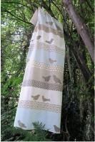Flanelldecken Silvretta birds gemustert