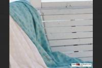 Flanelldecken riva Punkte hellblau