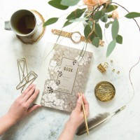 Floral Mist Clothbound Notebook by Papaya!