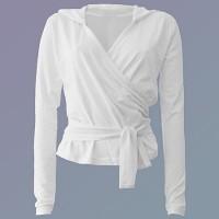 Girija Yoga Wickel-Shirt mit Hoody, weiss