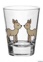 Glas mit Reh