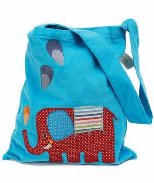 Glückliche Elephanten Schultertasche