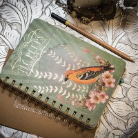 Golden Bird  Spiral Notebook by Papaya!