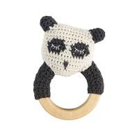 Häkel-Rässel, Panda auf Holzring