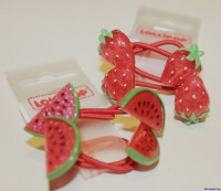 Haargummi mit Wassermelonen und Erdbeeren von Lollipop