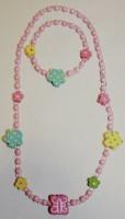 Halskette und Armband mit Blumen von Lollipop