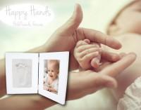 Happy Hands - Hand & Fußabdruckset - weißer Doppelrahmen von Xplorys BV