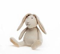 Hase Stripes, beige, klein, ÖKO- TEX  organische Baumwolle von Teddykompaniet