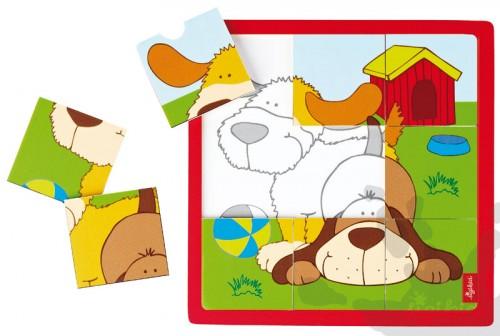 Holzpuzzle Hunde